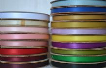 6mm X 5.5 meters DOUBLE SIDED SATIN RIBBONS